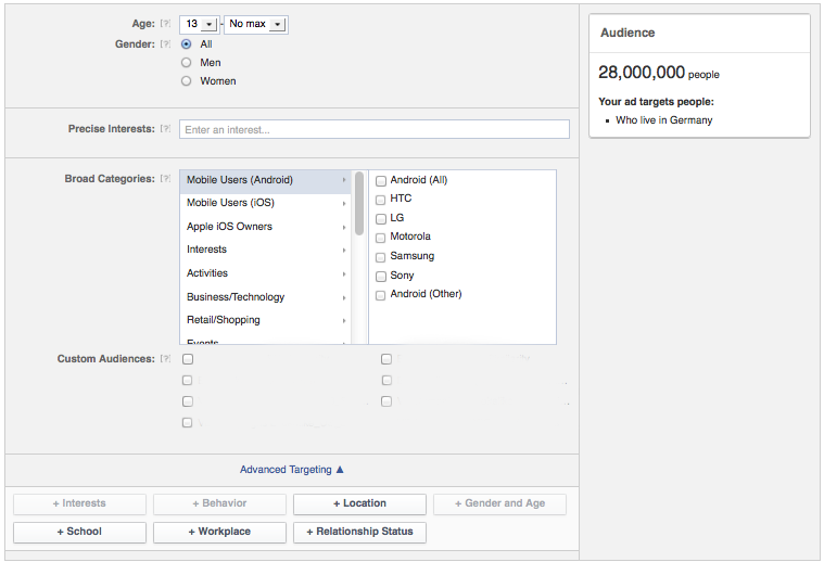 Facebook Ads Targeting Custom Audiences